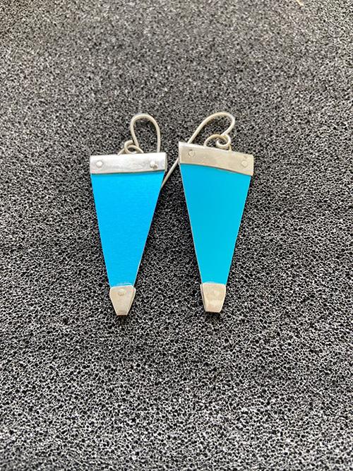 aluminium earrings