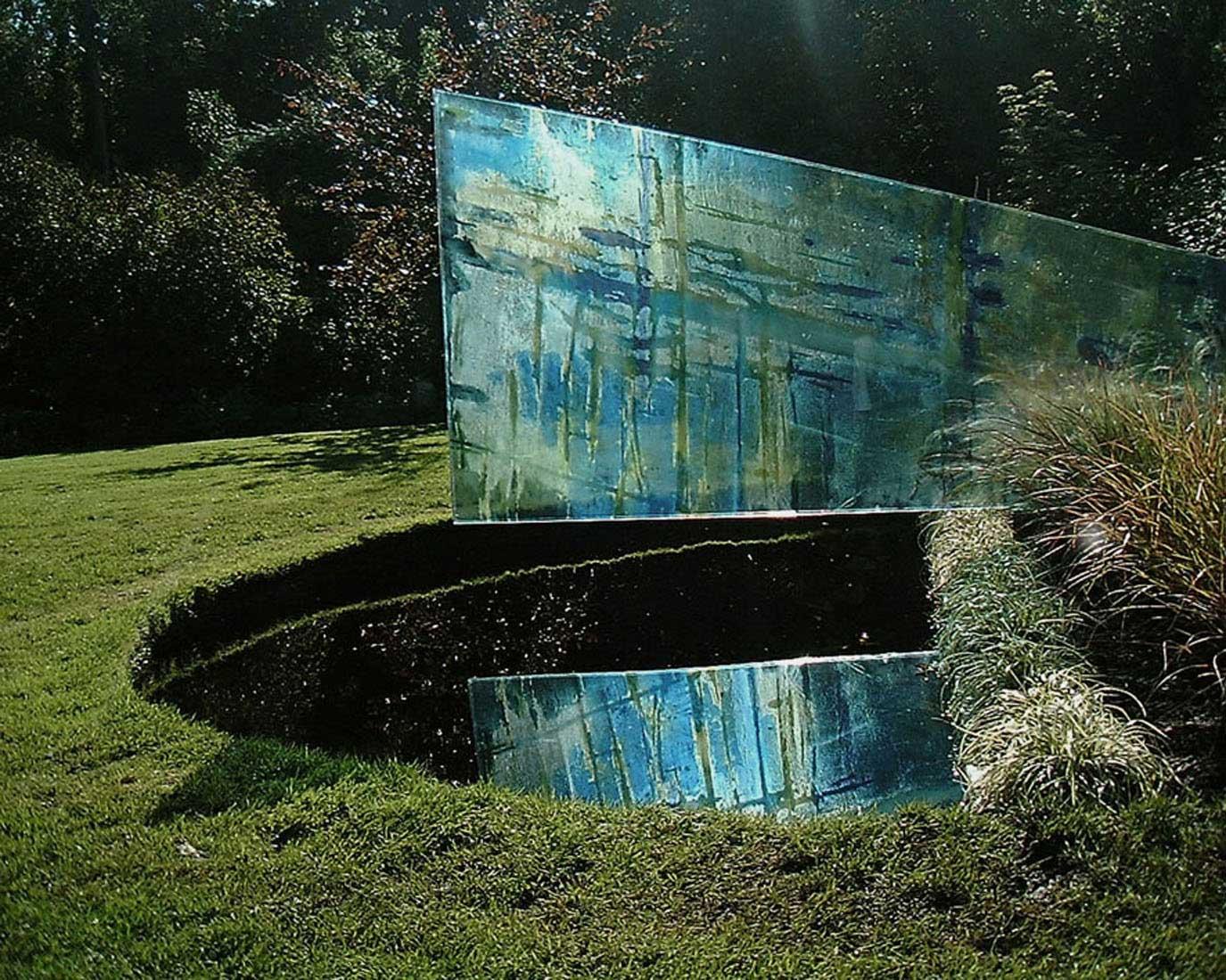 carole waller glass art installation for chelsea flower show