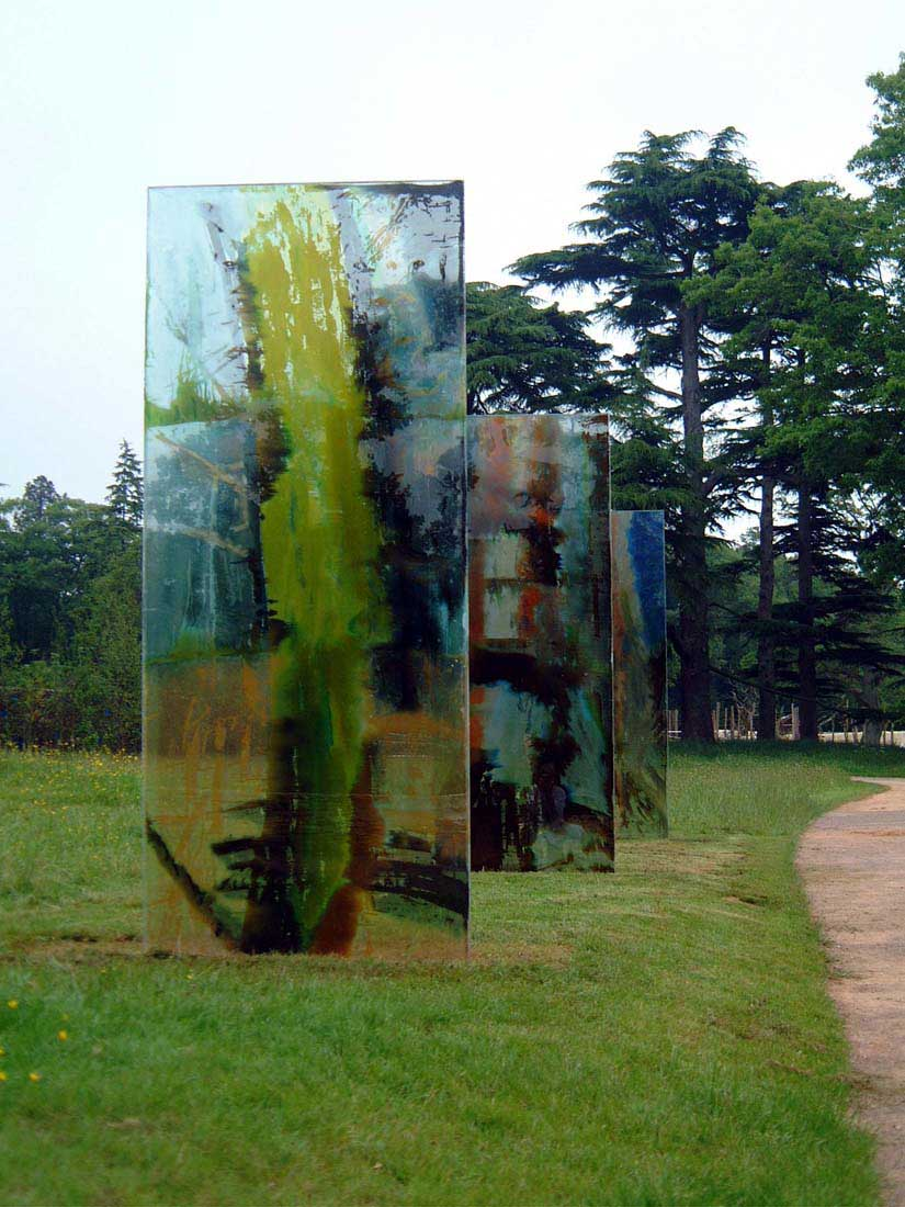 fused glass art installation by carole waller at Westonbirt arboretum