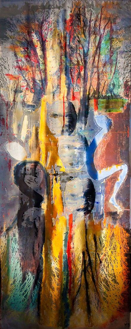 fiberart painting titled georgina by carole waller