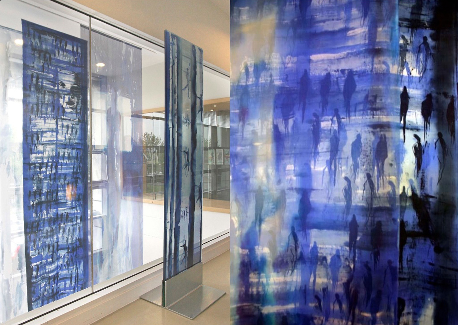 fiberart titled transition by carole waller