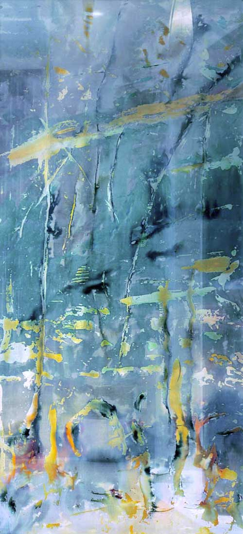 glass art panels for interior design by carole waller