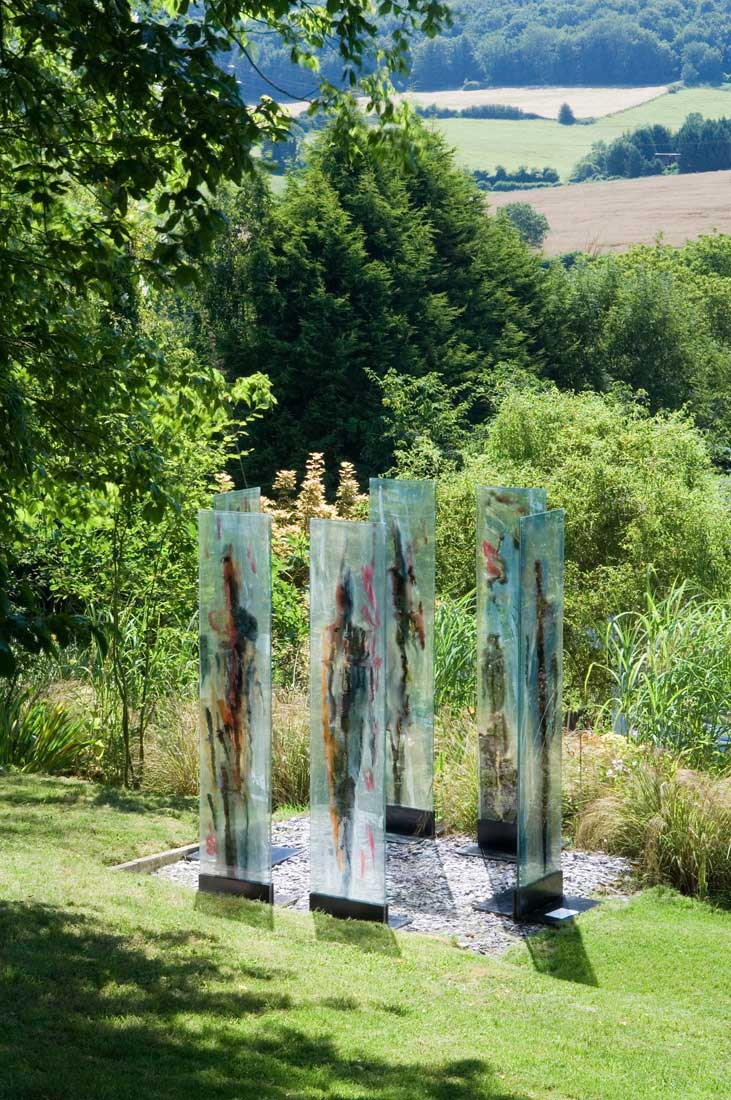 contemporary glass art by carole waller