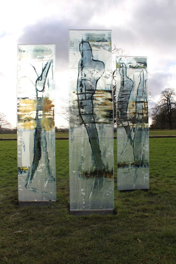 carole waller glass art installation at lacock abbey
