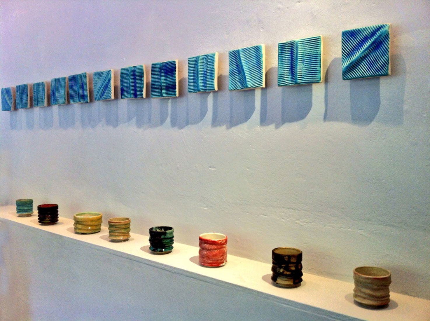 12 bar blues contemporary ceramics installation by gary wood