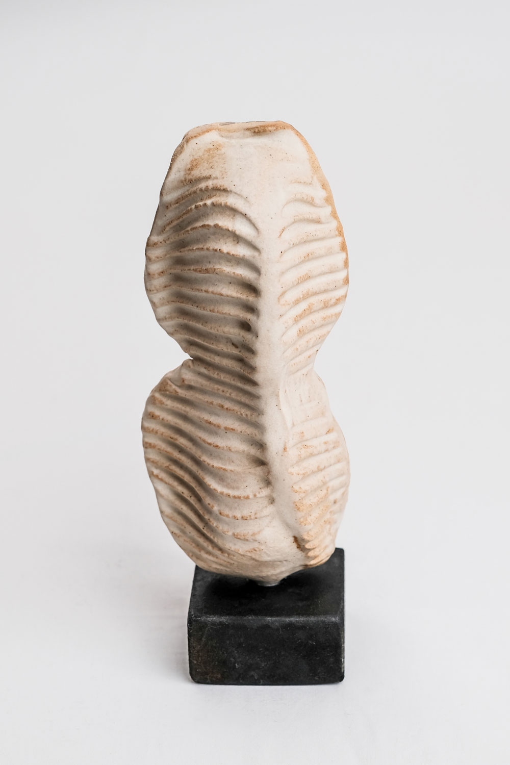 white torso contemporary ceramic sculpture by gary wood