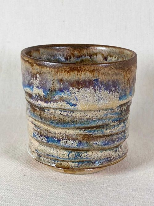 chun tea bowl stoneware pot by gary wood
