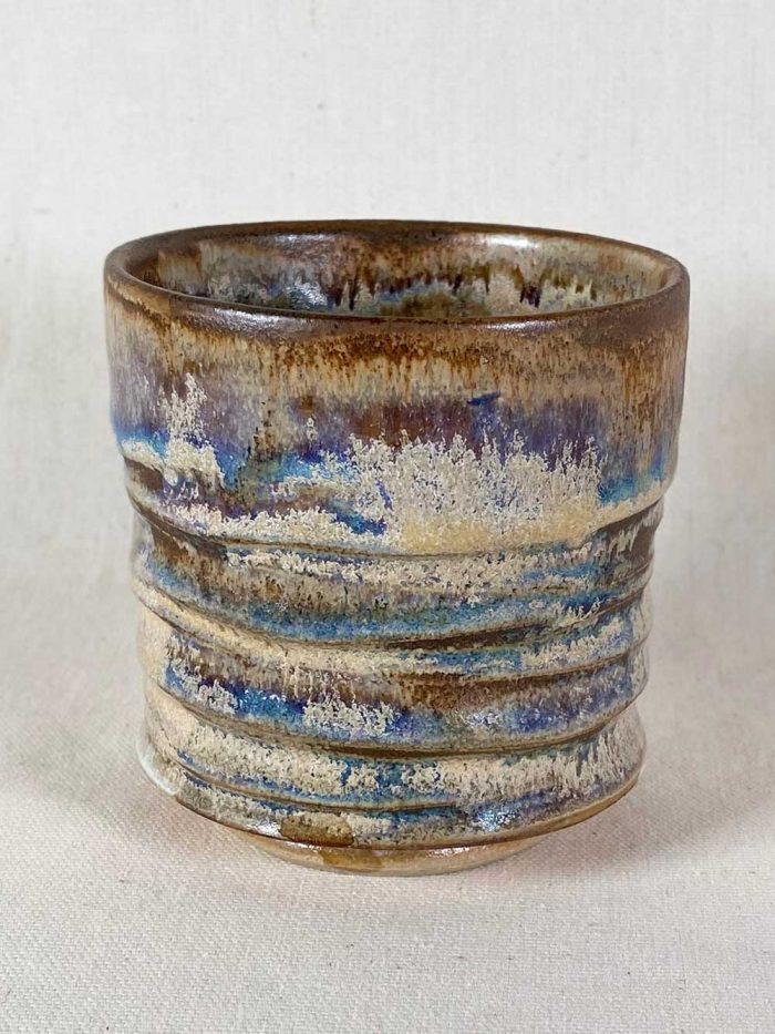 chun tea bowl stoneware pot by gary wood