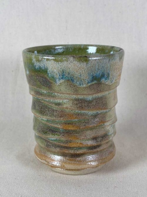 bespoke stoneware tea bowl by gary wood