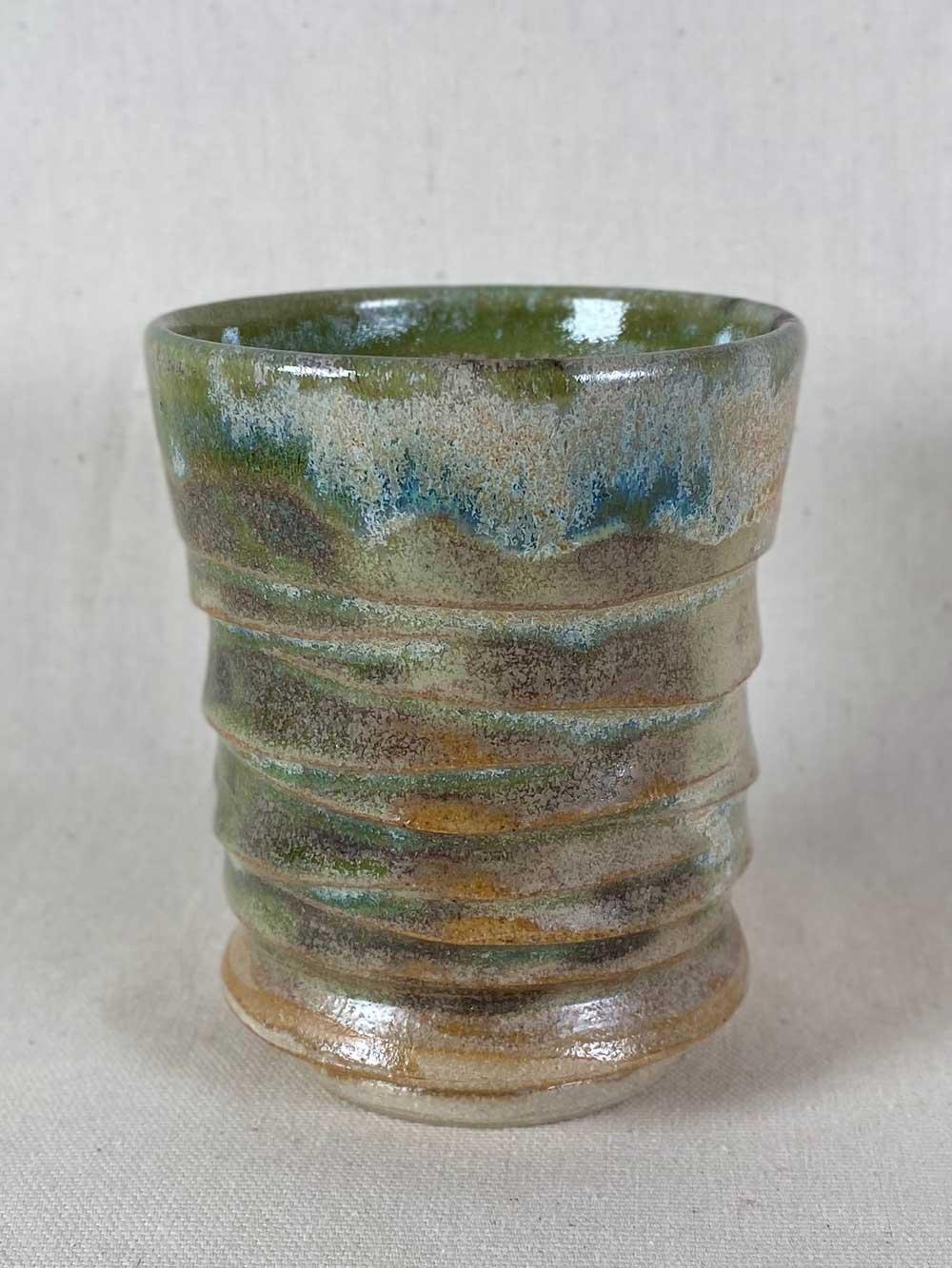 bespoke stoneware tea bowl by gary wood