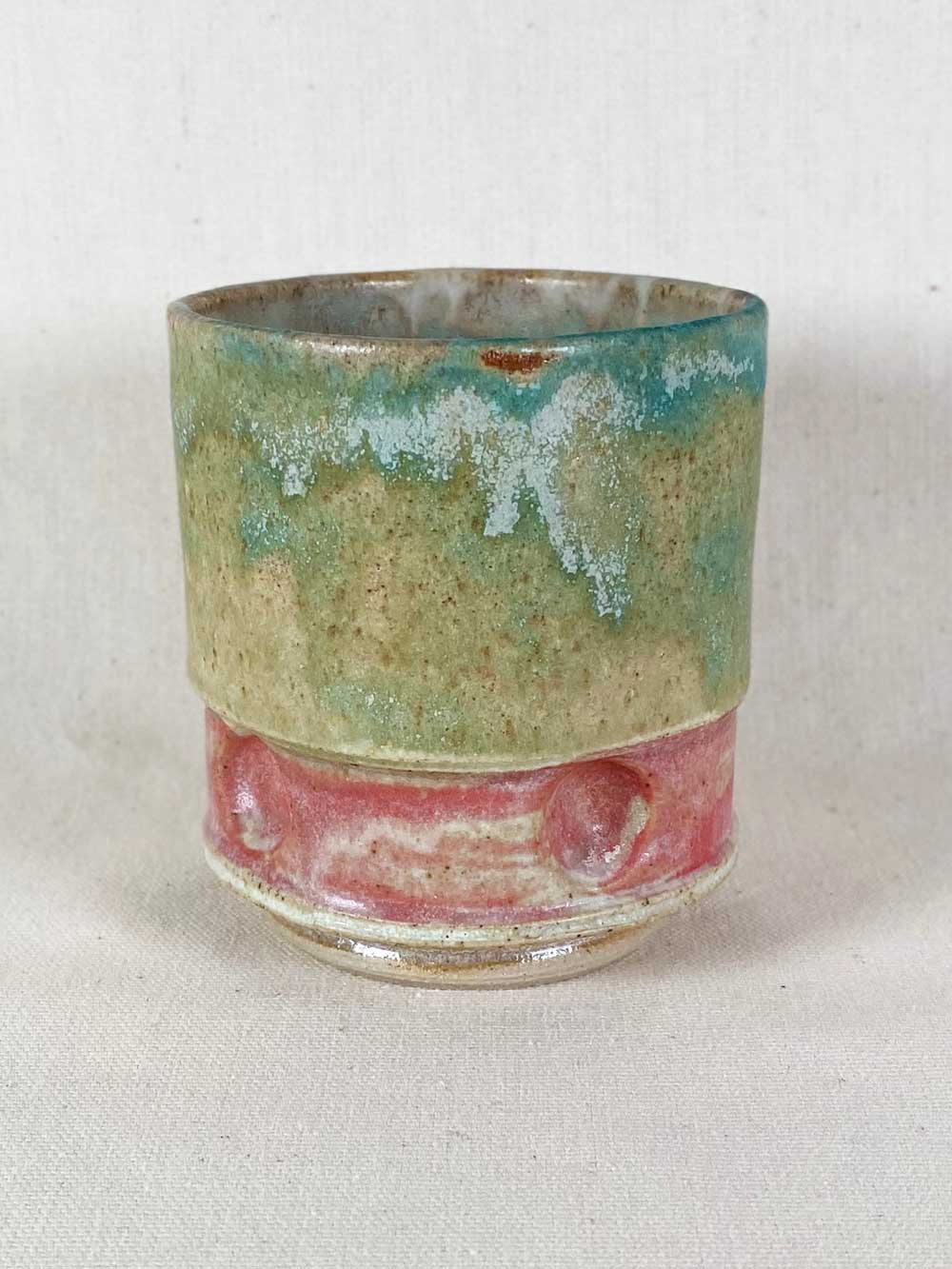 contemporary stoneware pink tea bowl by gary wood