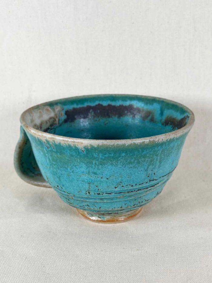 blue cup bespoke stoneware by gary wood