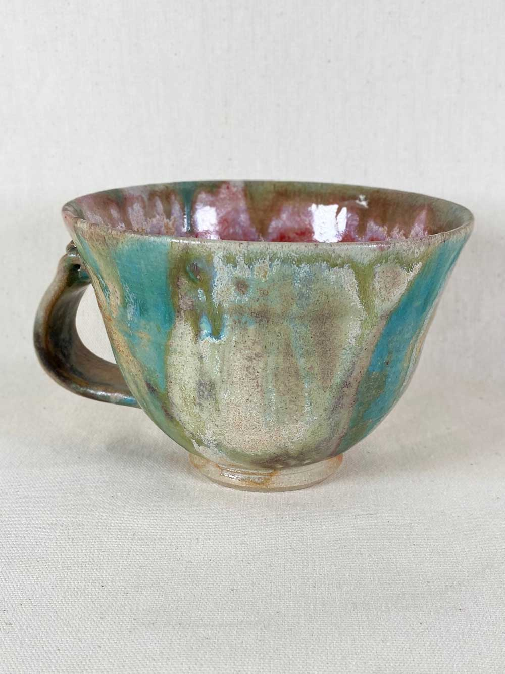 blue pink cup contemporary stoneware by gary wood