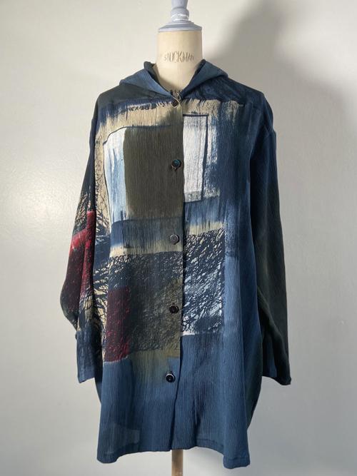 silk hoodie jacket