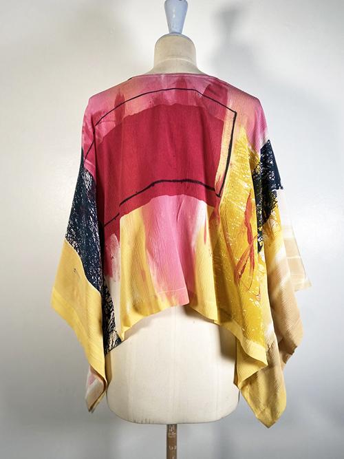 square silk top