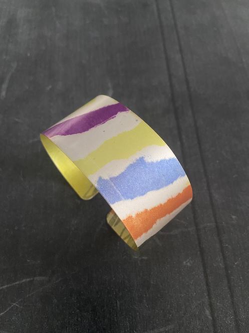 Handprinted-aluminium-cuff-annie-beardsley-