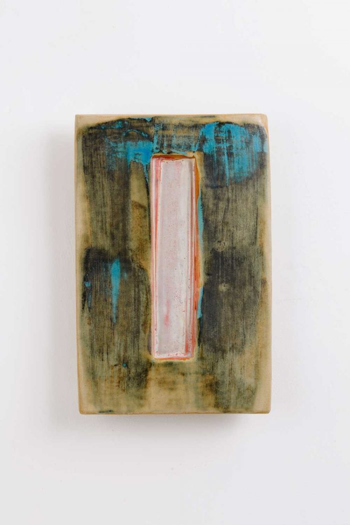 portal 4 painted stoneware wall piece by gary wood