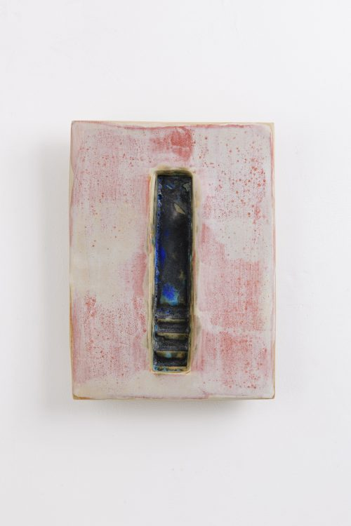 portal 5 contemporary ceramic wall piece by gary wood