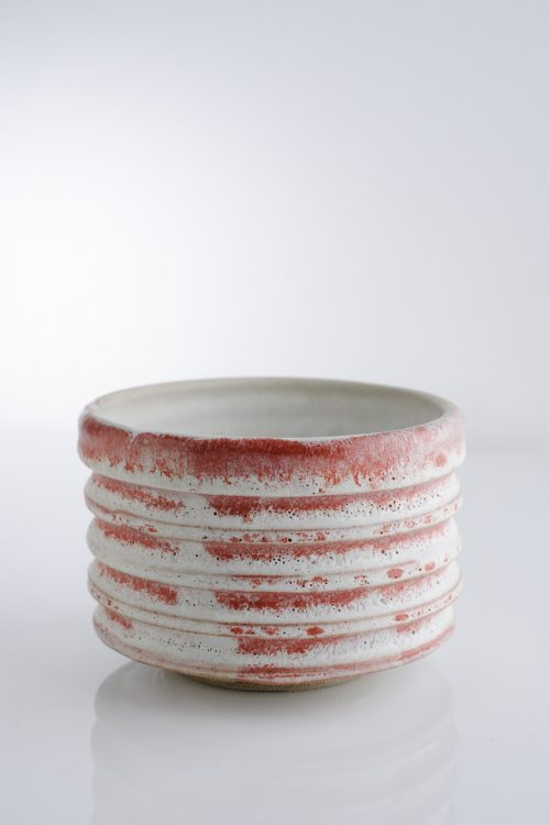 pink tea bowl
